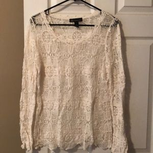 Like new crocheted  INC womens top size medium